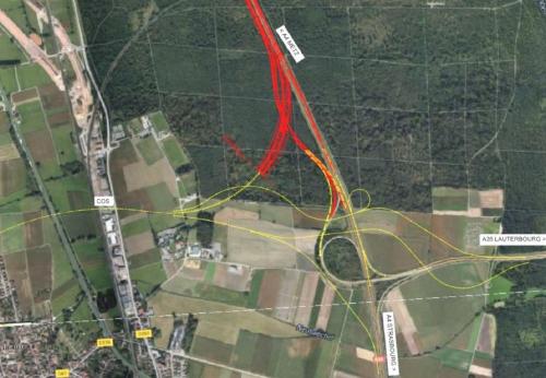 Relevé topographique par Roadscanning pour le tracé de l'A4 de Brumath à Vendenheim